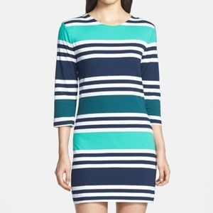 French Connection Jag Multi Stripe Dress; 10